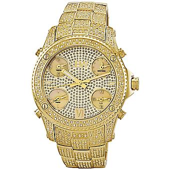 JBW diamond men's stainless steel watch JET SETTER - gold