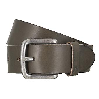 ALBERTO basic belt mens belt leather belt green 4772