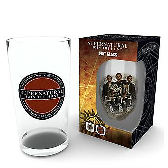 Vaso de cerveza insignia sobrenatural