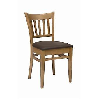Pair Of Fully Assembled Sonya Oak Chair With Seat Pad