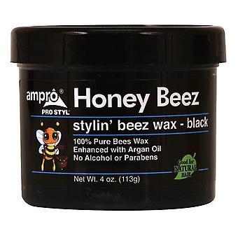 Ampro Beez Stylin' Beez Wax Black 4oz