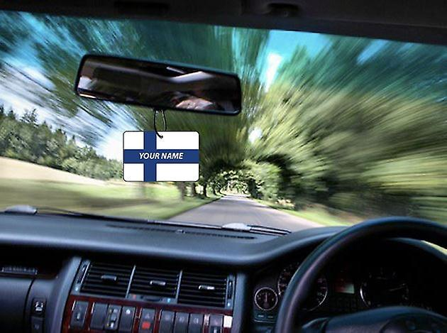 Finland Flag Personalised Car Air Freshener