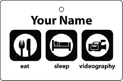 Personalised Eat Sleep Videography Car Air Freshener