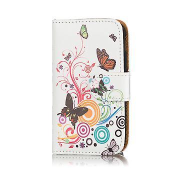 Diseño de libro de caja para Samsung Galaxy A3 SM-A300 (2015) - mariposa de color