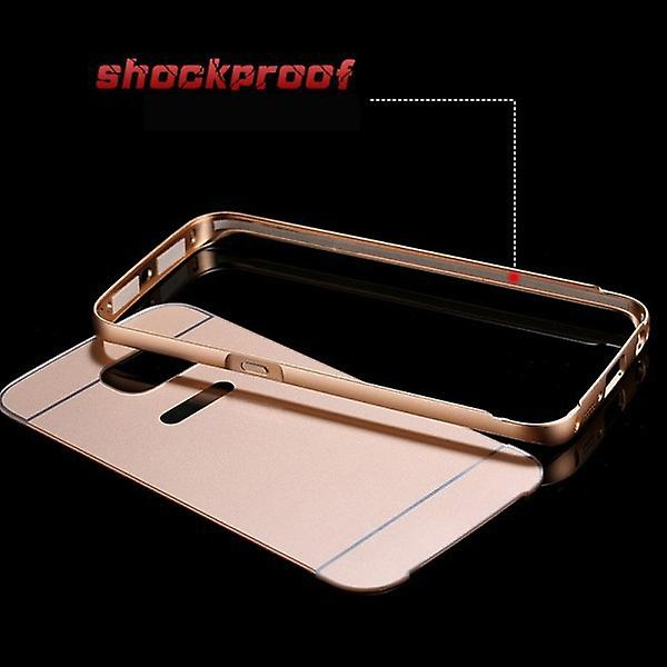 Aluminium bumper 2 pieces with cover gold for Samsung Galaxy Galaxy S6 edge G925 G925F