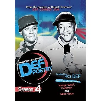 Russell Simmons Presents Def Poetry: Season 4 [DVD] USA import