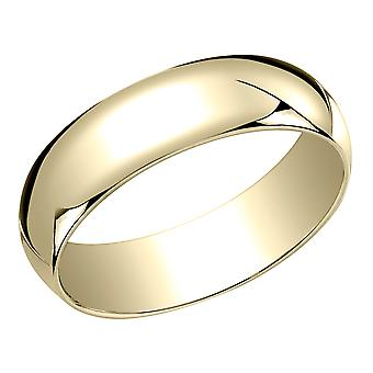 Mens 6mm Wedding Band in 14K Yellow Gold