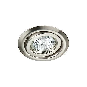 LED Robus Rida GU10 240V Adjustable Downlight, Brushed Chrome