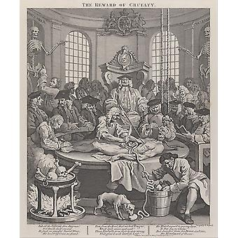 William Hogarth - The Fourth Stage of Cruelty Poster Print Giclee