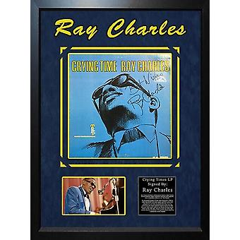Ray Charles - Crying Time - Signed Album