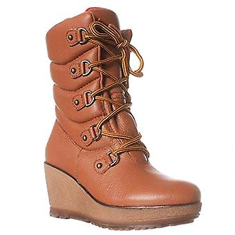 Cougar Wedgy Mid-Calf Boots - Rust