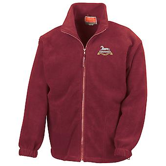 The Queens Own Hussars Embroidered Logo - Official British Army Full Zip Fleece