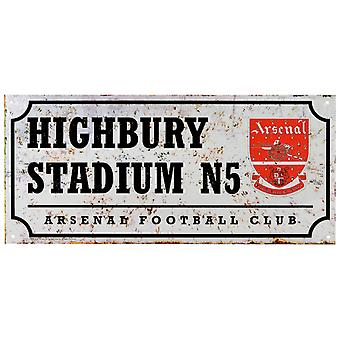 Arsenal FC Official Retro Football Street Sign