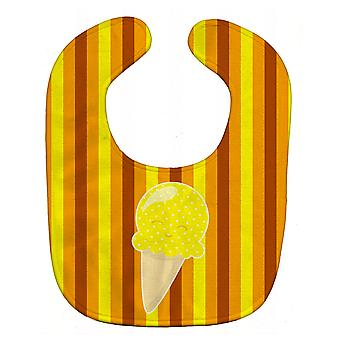 Carolines Treasures  BB9063BIB Ice Cream Cone Yellow Baby Bib