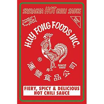 Sriracha - Label Poster Poster Print