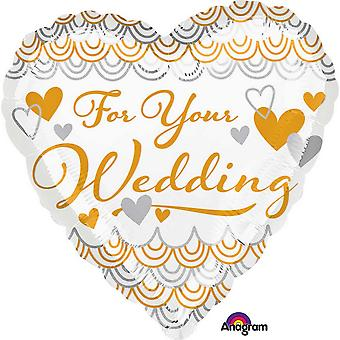 Anagram 18 Inch For Your Wedding Heart Foil Balloon