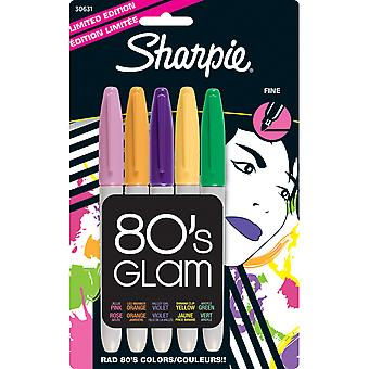 Sharpie Fine Point Limited Edition marqueurs permanents 5 Pkg 80 ' s Glam 30631