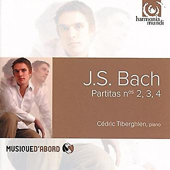 Bach / Tiberghien, Cedric - Partita's Bwv826-828 [CD] USA import