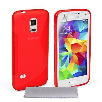 Caseflex Samsung Galaxy S5 Mini Silicone Gel S-Line Case - Red