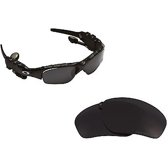 THUMP Replacement Lenses Polarized Black by SEEK fits OAKLEY Sunglasses