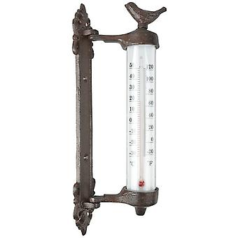 Wandthermometer vogel in giftbox