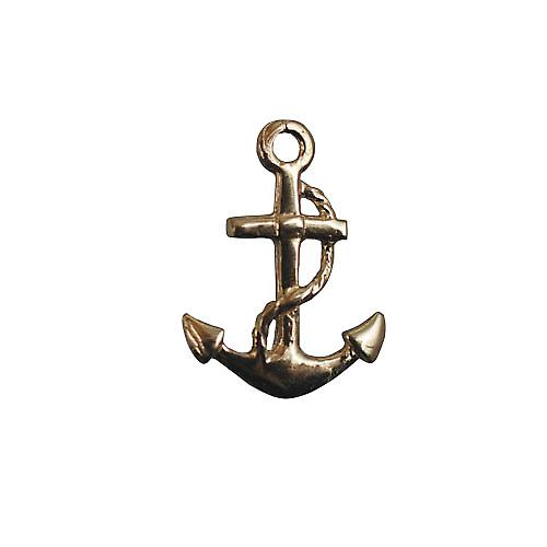 9ct Gold 10x8mm plain Anchor Tietack