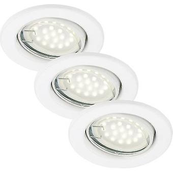 Flush mount light 3-piece set LED GU10 9 W Briloner 7208-036 White