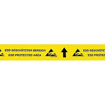 ESD tape 1 Rolls Yellow, Black (L x W) 15 m x 70 mm BJZ