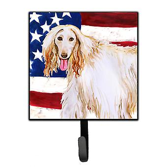 Carolines Treasures  BB9702SH4 Afghan Hound Patriotic Leash or Key Holder