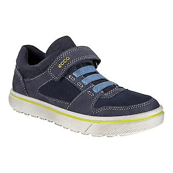 Ecco Glyder Marine Boys Blue Suede Leather Casual Shoes
