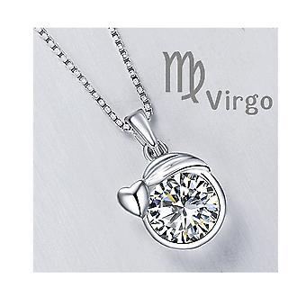 Astro Virgin Anhänger geschmückt mit Swarovski Kristalle Zirkonia weiß und Silber 925