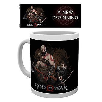 God of War nuevo principio taza
