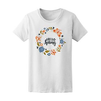 Hello Spring! Circle Wreath Tee Women's -Image by Shutterstock