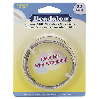 Stainless Steel Wrapping Wire Square 22 Gauge 6.5 Meters Pkg Ww180 S222