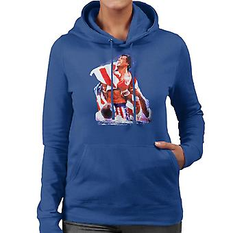 Sidney Maurer Original Portrait Of Sylvester Stallone Rocky IV Women's Hooded Sweatshirt