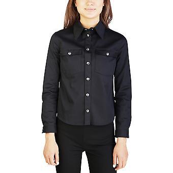 Miu Miu Women's Cotton Blouse Shirt Black