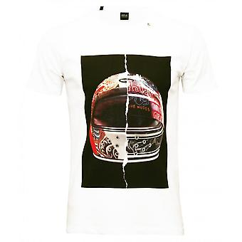 Replay Motorcycle Helmet Print T-Shirt, White