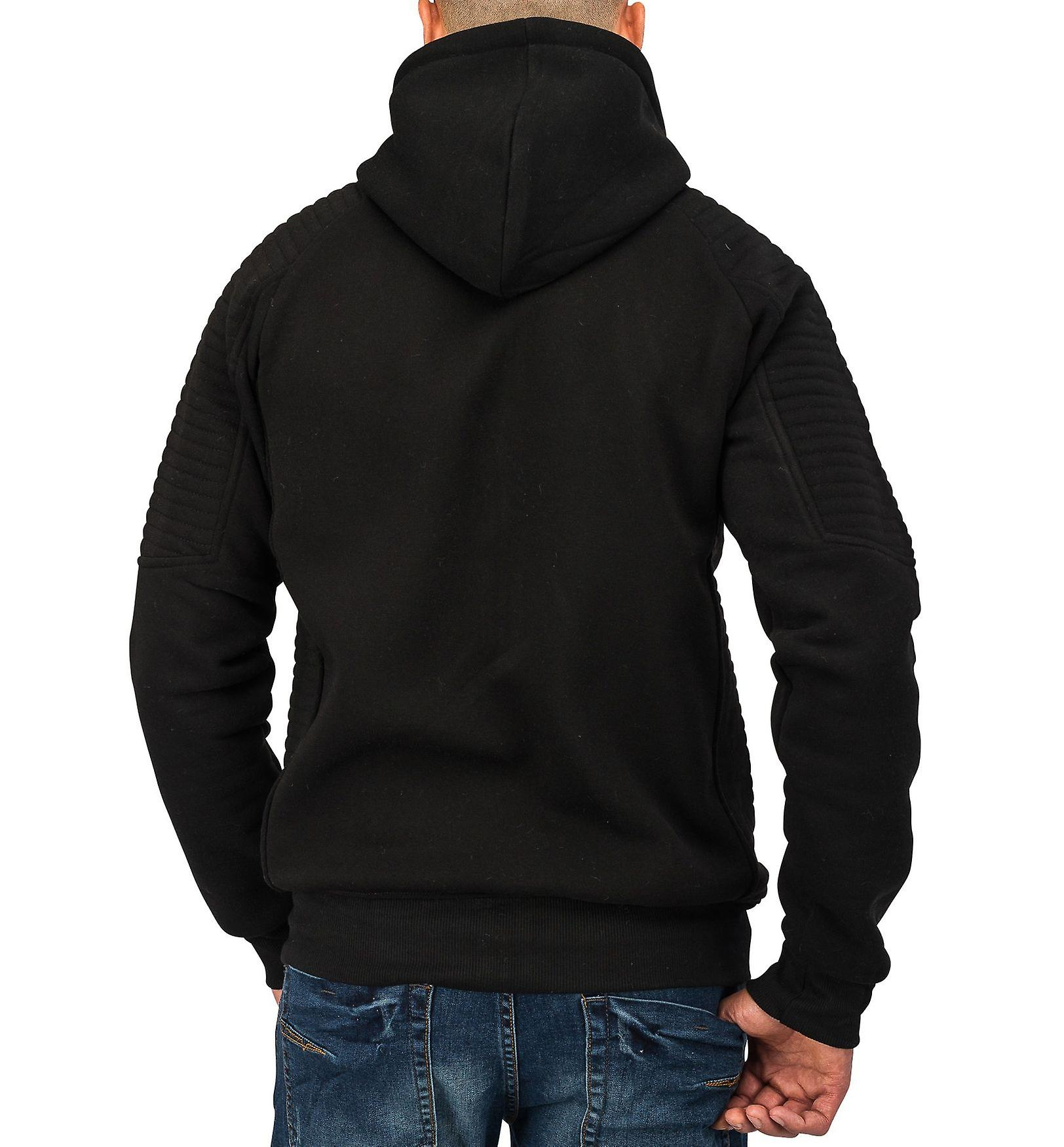 Mens Sweatjacket BROAD Sweatshirt Jacket Hooded Fitness Fashion Zip Hoodie