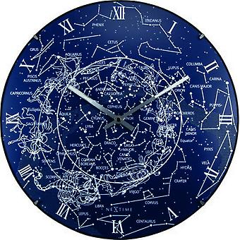 Nextime Luminous clock of the milky way blue 35x5 cm (Decoration , Clocks)