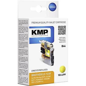 KMP Ink replaced Brother LC-123 Compatible Yellow B44 1525,0009