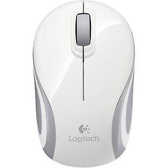 Logitech M187 Wireless Mouse Optical ergonomische, eingebaute Scrollrad weiß