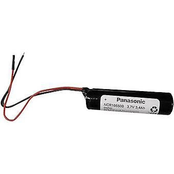 Panasonic NCR18650B Non-standard battery (rechargeable) 18650 Cable Li-ion 3.7 V 3400 mAh