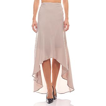 Mullet Maxi skirt in satin quality taupe ashley brooke
