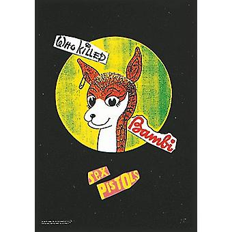 Sex Pistols Who Killed Bambi? Large Fabric Poster / Flag 1100Mm X 750Mm