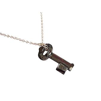 Gemshine - damas - colgante - llave - negro - cristal collar - plata 925 - MADE WITH SWAROVSKI ELEMENTS® - 45 cm