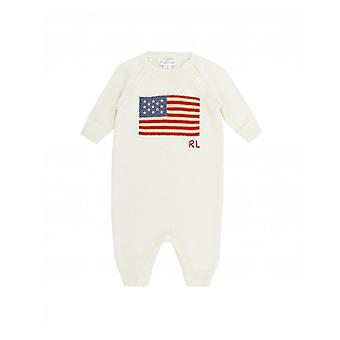 Polo Ralph Lauren Childrenswear gestrickte Flagge Logo all-in-One