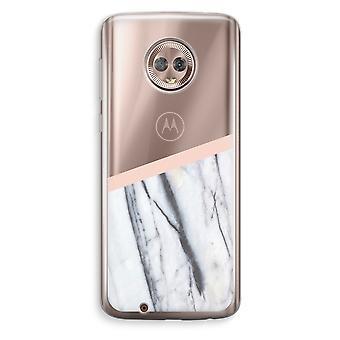 Motorola Moto G6 Transparent Case (Soft) - A touch of peach