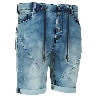 Sub level men's sweat denim pants of shorts dark blue
