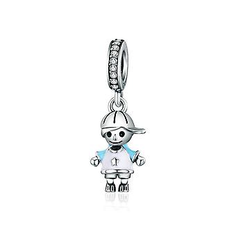 Sterling silver pendant charm Little boy