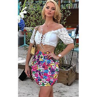 IKRUSH Womens Louisa Floral Peplum Skirt